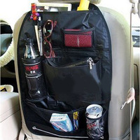 Multifunctional car back bag glove bag car finishing bags rear seat drink holder pen magazine storage bag