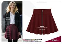 2014 Real Promotion Autumn - Winter European And American Style Women Zipper Bust Skirts Lady Short Skirt Pettiskirt Wild Slim