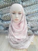 LZ05 wholesale free shipping fashion design islamic arabic scarf and hijab for muslim lady