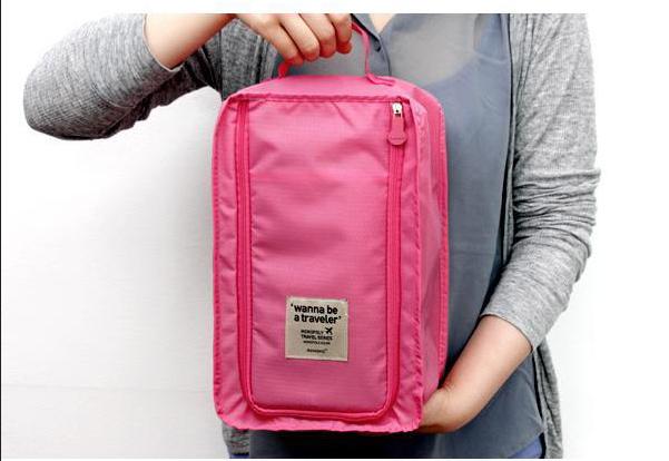 5pcs/lot wholesale Fabric shoes travel zakka organizer set fashion Korean folding waterproof excellent storage box Free Shipping(China (Mainland))