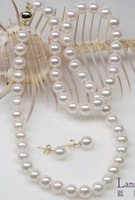 7-8 mm seawater pearl necklace + earring