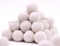 Free Shipping 100pcs 20mm Handmade White Wool Felt Dryer Balls 2015 New Product Fashion Ceiling Hanging Christmas Decorations