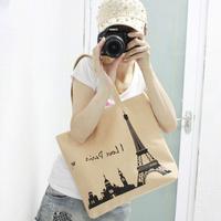 2014 New Letter Fashionable Student School Bag Casual Canvas Bag Women Messenger Bags Handbag Tote Shoulder bag Large Free