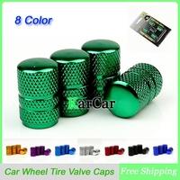 2Sets/Lot Universal Aluminum Round Design Car Wheel Tyre Air Valve Caps, Bicycle Tire Valve Cap