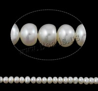 Free shipping!!!Button Cultured Freshwater Pearl Beads,Womens Jewelry, natural, white, 6-7mm, Hole:Approx 0.8mm