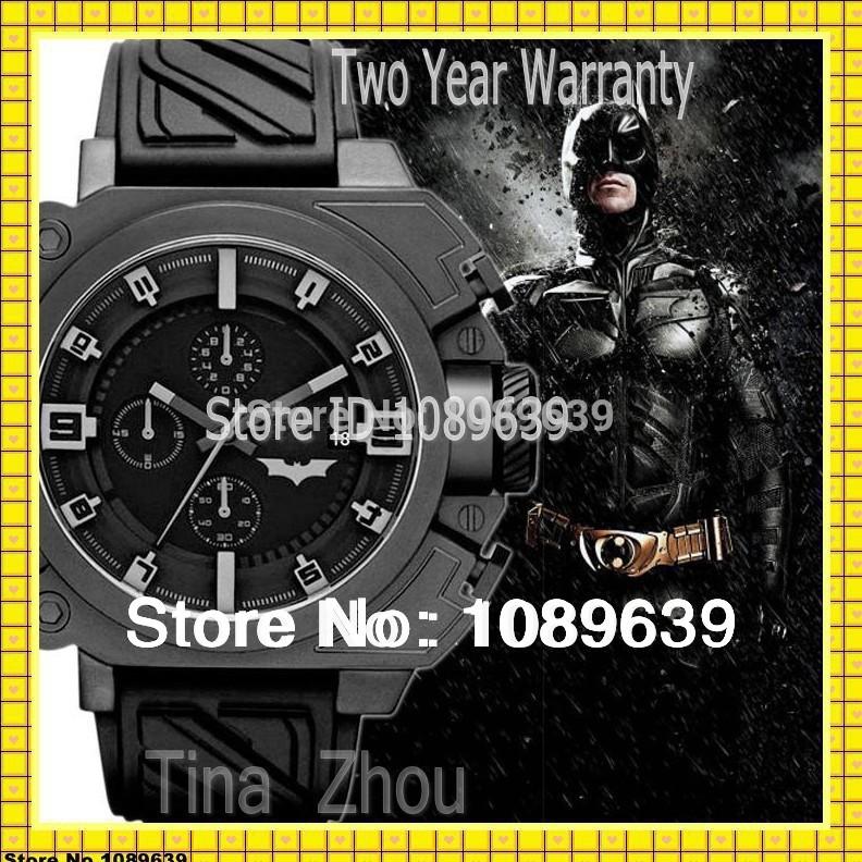 Free Shipping NEW The Dark Knight Rises Limited Edition DZWB0001 DZ WB0001 Black Silicone Batman Original Box(China (Mainland))