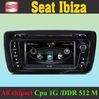Car DVD Player GPS Navigation Radio for Seat Ibiza  2008 - 2012  +3G WIFI + CPU 1GMHZ + DDR 512M + v-20 Disc + DVR + A8 Chipset