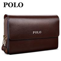 LZ 2014 male clutch male cowhide soft wallet long design wallet man bag men's day clutch bag