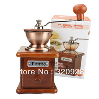 New arrival senior tiamo  hand grinder Senior pine  Coffee Grinders