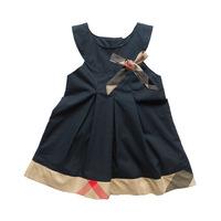 Girl dress Polo baby girl Kids girls cotton striped dress fit 1-5Y wear 5pcs/lot free shipping