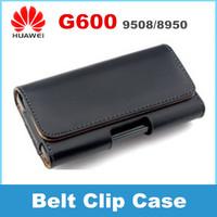 Huawei G600 U8950 U9508 phone Leather Case Belt Clip Pouch