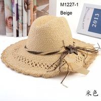 Wholesale 6pcs Mix Colors 2013 Classic Unisex Wide Brimmed Floppy Hats Men Straw Caps Women Sun Cap Large Brim Summer Beach Hats