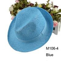 Wholesale Special Mix Colors 2013 Cheap Unsiex Straw Fedora Men Straw Caps Women Fedoras Straw Summer Hats Beach Hat Headwear