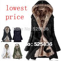 winter coat women winter jacket women casacos femininos inverno parka lining fur Hoodies winter warm long coat down & parkas