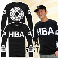 Free shipping hood by air hba pif men's street clothing hood fashion in full hoodie hba pif with a hood pullover sweatshirt coat