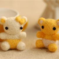 Lovers wool felt poke fun material kit diy dust plugs decoration