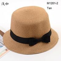 Wholesale Classic Bowknot Straw Cloche Ladies Sun Hat Fishing Caps Summer Hats For Women Bucket Hat  Beach Straw Cap Headwear