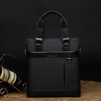 2014 European leisure fashionable man hands the bill of lading shoulder bag the classic case grain street men's bags