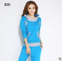 2014 Spring Women Fashion pullover sweatshirt set Casual Slim Women's tracksuit PO-B15