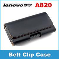 Lenovo A820 phone Leather Case Belt Clip Pouch