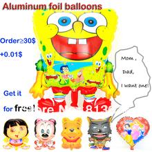 "Hot 3D cartoon balloon  decoration aluminum foil balloon helium balloons 12"" big balloon gifts for order >30USD buyers free(China (Mainland))"