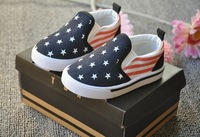 free ship fashion star stripe patchwork fits 1-4 years kids baby girls children shoes first walkers