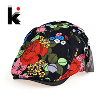 Free shipping 2014 spring and summer new fashion women beret cap breathable color roses hat 5 colors