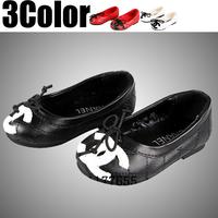 Black girls princess flat shoes fashion Round girl thin shoes children girls dance Flats shoe.child spring,autumn shoes