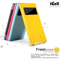 Original Nillkin Fresh Series Flip Leather Case For SONY Xperia Z1 L39h ,with retail package MOQ:1PCS free shipping