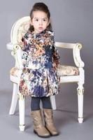 Most fashion!Limited edition 2014 spring girl silk long-sleeve dress brand girl's dresses hotsale designer kids dress for girl