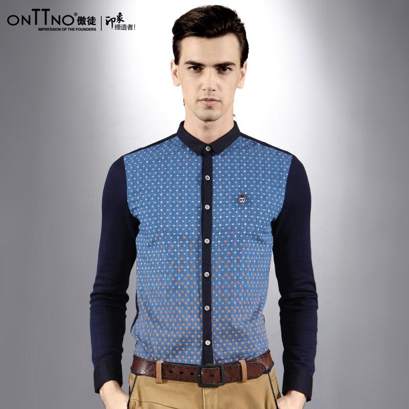 Blue Polka Dot Shirt Men Polka Dot Shirts Men