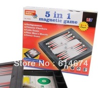 5in 1 Portable Foldable 19*17*3 cm checkers with Magnetic high quality -only 1 dollar shipping fee