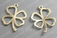 100pcs/lot Zinc alloy bead Antique Bronze Plated four leaf clovers Shape Charms Pendants Fit Jewelry Making DIY 25*18MM JTA1441