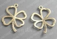 100pcs/lot Zinc alloy bead Antique Bronze Plated four leaf clovers Shape Charms Pendants Fit Jewelry Making DIY 25*18MM JTA1441