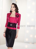 E7822 short design plus size dress mother formal dress set wedding formal dress one-piece dress