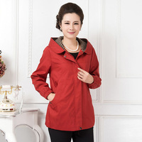 Free shipping 2014 new arrival spring women's designer brand fashion plus size causal hooded outerwear coats Trench nice cheap