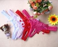 Free shipping 2014 new women's sexy xxxl underwear women thong sexy for women bikini pantys lingerie pink love pearl thong