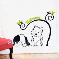 2014 New Diy Vinyl Child Cartoon Lovely Dog Home Decor Wall Stickers For Kids Rooms