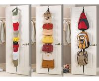 Real Free Shipping Straps Hanger Adjustable Over Door Hat Bag Clothes Rack Holder Organizer 8 Hooks