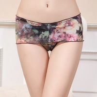 Wholesale 5pcs/lot Fashion Floral Lace Women's Underwear Briefs Sexy Panty Thong Panties Women Underware 5 Colors