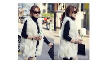 Faux Fur Vest Women Long  Fur Jacket Waistcoats Luxurious Fur Vest FPC067