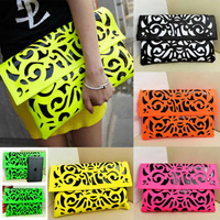 Details about FASHION New Hollow Fluorescence Candy Colors Messenger Bag Handbag Shoulder Bag