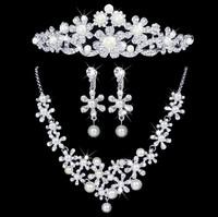 Bride pearl marriage accessories the bride necklace set wedding decoration piece set hair accessory