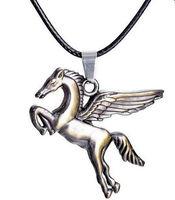2 Pcs Fashion 3D Pegasus Winged Horse Pendant Charm Necklace 18'' Length Halloween Christmas Hot Gift