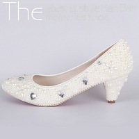 Fashion Party Bridal Bridesmaid Pearl Women Pumps Sexy Wedding Shoes Elegant Heels red bottom high heels 4023-3
