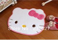 Free shipping Hello Kitty White Cartoon Anti Slip floor mat slip-resistant Door mat /carpet mats /rug mat for bedroom 60X50CM