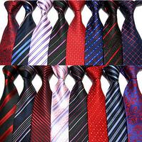 New Fashion Classic 9cm Solid Color Stripes Jacquard Men's Neck Tie Necktie 22Colors