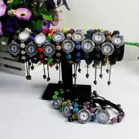 10pcs/Lot 16 Colors Fashion Women Shamballa Bracelet Watch Rhinestone Watches Free Shipping