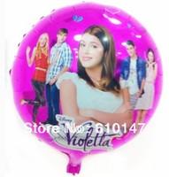 2014 New 50pcs/lot Aluminum Foil balloon,Helium balloon 18inches violetta balloons