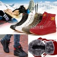 2014 hot sale new  Winter plus velvet cotton-padded shoes  boots  shoes plus velvet flat heel platform snow cotton-padded warm